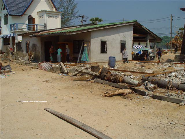 Hier soll mit den Spenden ein neues Haus entstehen