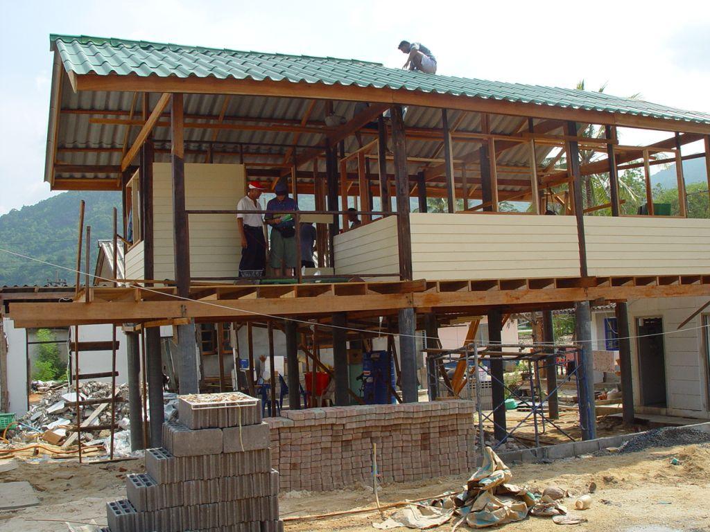 Wiederaufbau eines Hauses