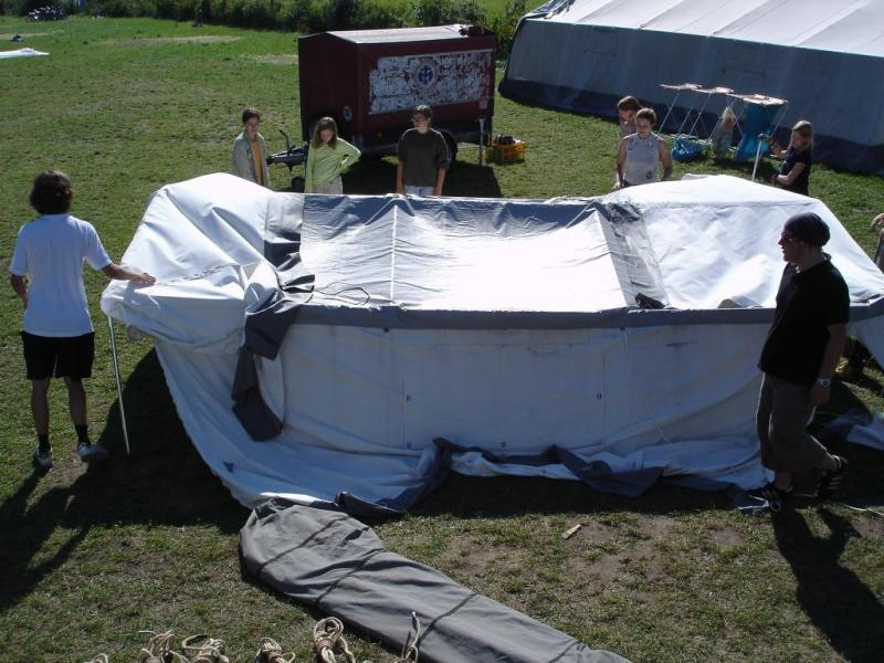 Das Lager wird abgebaut...