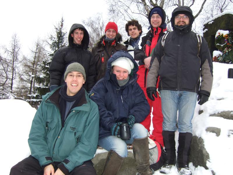 Gruppenbild auf dem Berg 'Hohe Liebe'