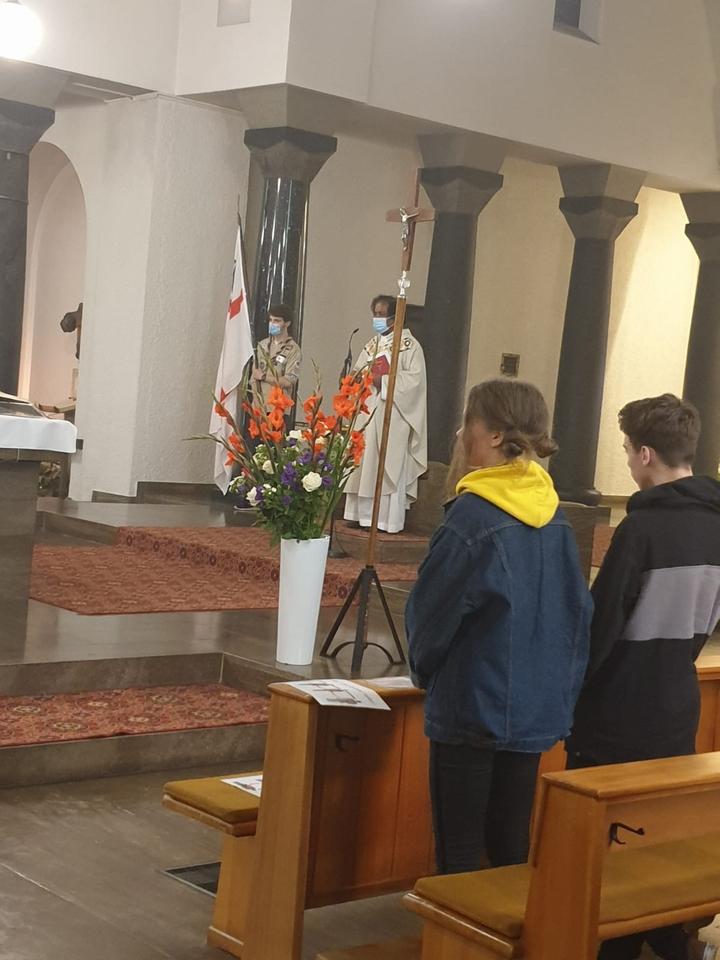 Messe in der Kirche