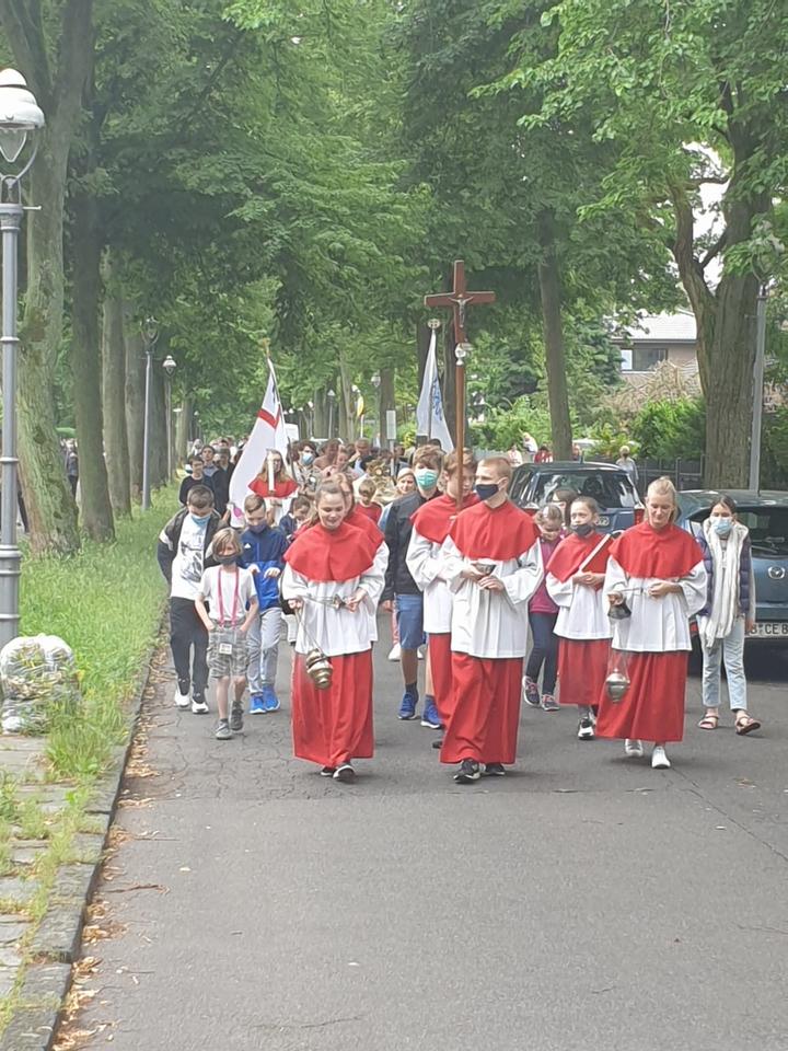 Unterwegs bei der Prozession